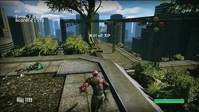 Bionic Commando Xbox 360 Gameplay - Grenade It