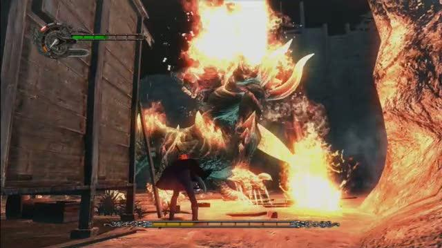 Devil May Cry 4 Xbox 360 Gameplay - Boss Fight (HD)