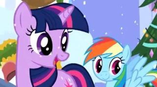 MY LITTLE PONY FRIENDSHIP IS MAGIC THE FRIENDSHIP EXPRESS CANTERLOT CHRISTMAS