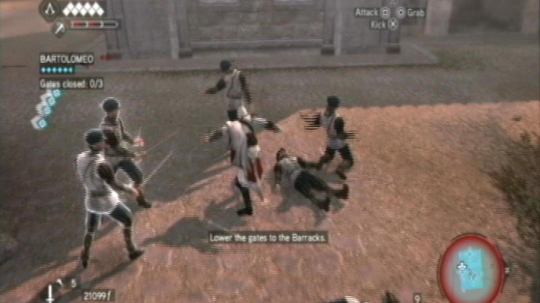 Assassin's Creed Brotherhood Gatekeeper without Taking Damage