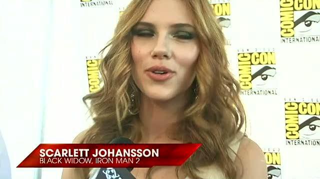 Iron Man 2 Movie Interview - SDCC 09 Scarlett Johansson