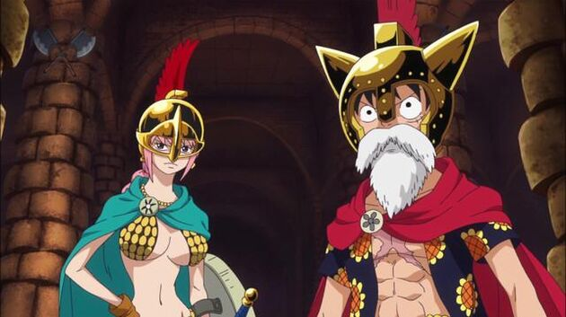 One Piece - Episode 650 - Luffy and the Gladiator of Fate - Rebecca!