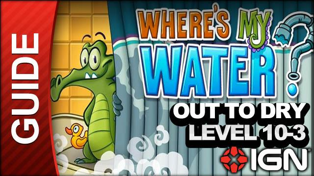 Where's My Water? - Out to Dry - Level 10-3 Cut and Dry - Walkthrough