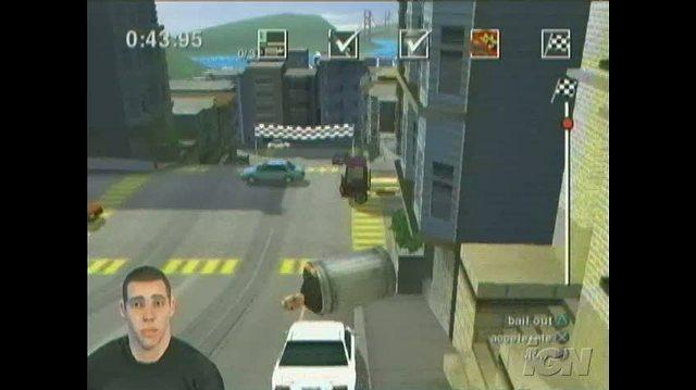 Jackass The Game PlayStation 2 Gameplay - San Fran Trash Can