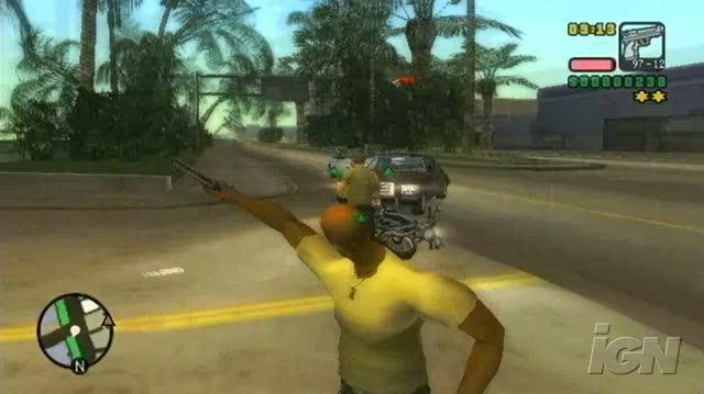 Grand Theft Auto Vice City Stories PlayStation 2 Gameplay - Ridin'