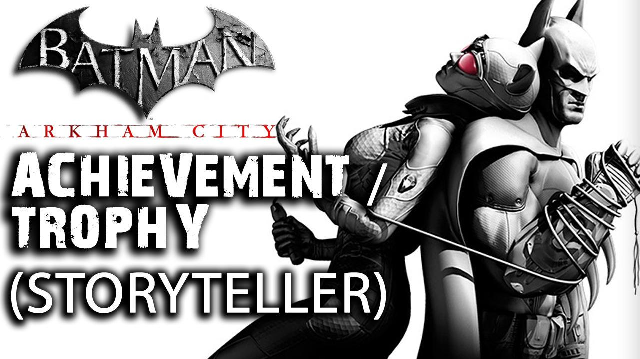 Batman Arkham City - Storyteller Achievement Trophy