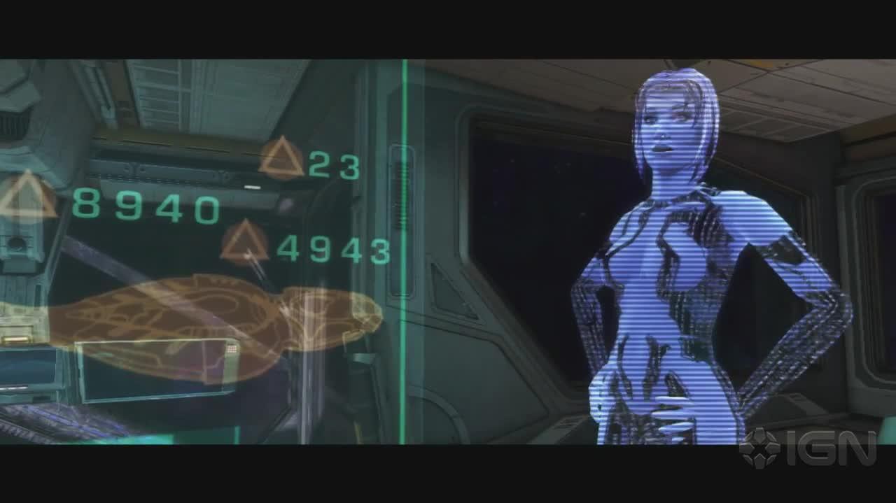 Halo Combat Evolved Anniversary - Ship Bridge Cut Scene - Gameplay