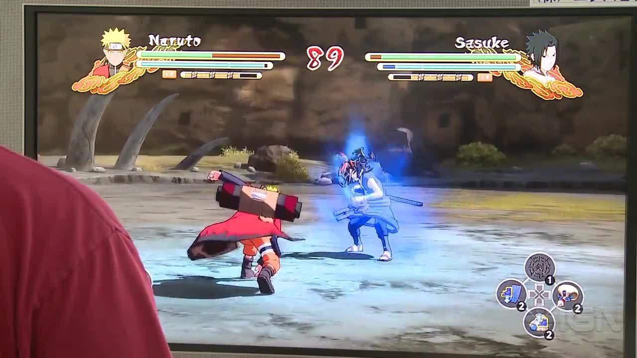 Naruto Shippuden Ultimate Ninja Storm 3 Naruto Gameplay - TGS 2013