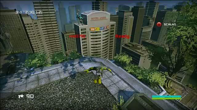Bionic Commando Xbox 360 Gameplay - Zip Kick