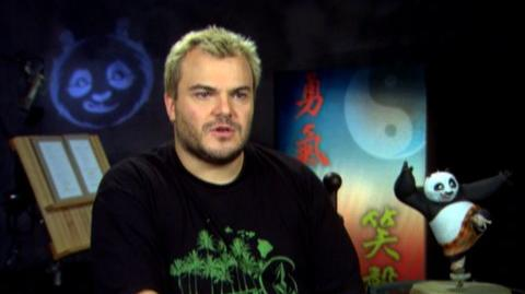 """Kung Fu Panda (2008) - Interview Jack Black """"On Po being a great character"""""""