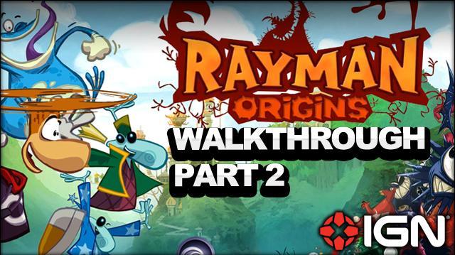 Rayman Origins Walkthrough - Jibberish Jungle Geyser Blowout (Part 2)