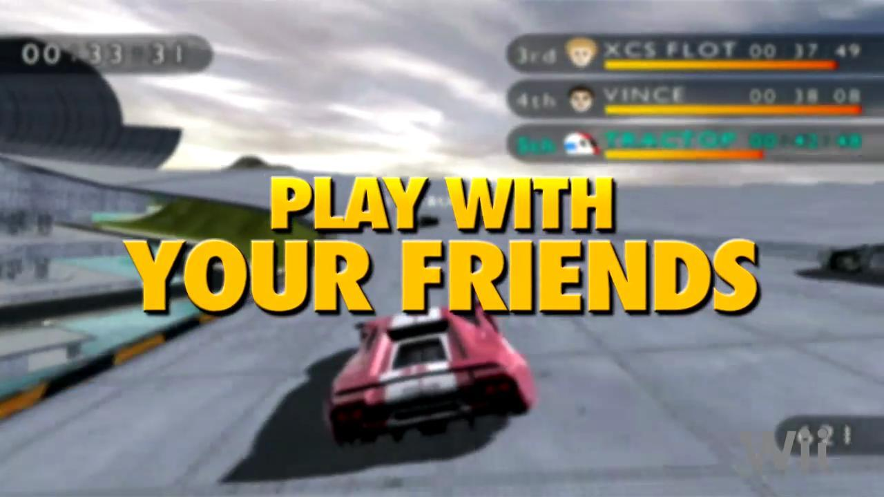 Trackmania Wii Multiplayer Video