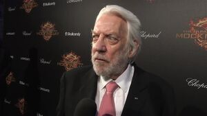 The Hunger Games Mockingjay Part 1 - Donald Sutherland Interview