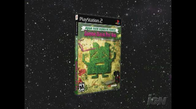 Aqua Teen Hunger Force Zombie Ninja Pro-Am PlayStation 2 Trailer - Sandwich Battle