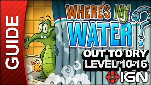 Where's My Water? - Out to Dry - Level 10-16 Fill Columns - Walkthrough