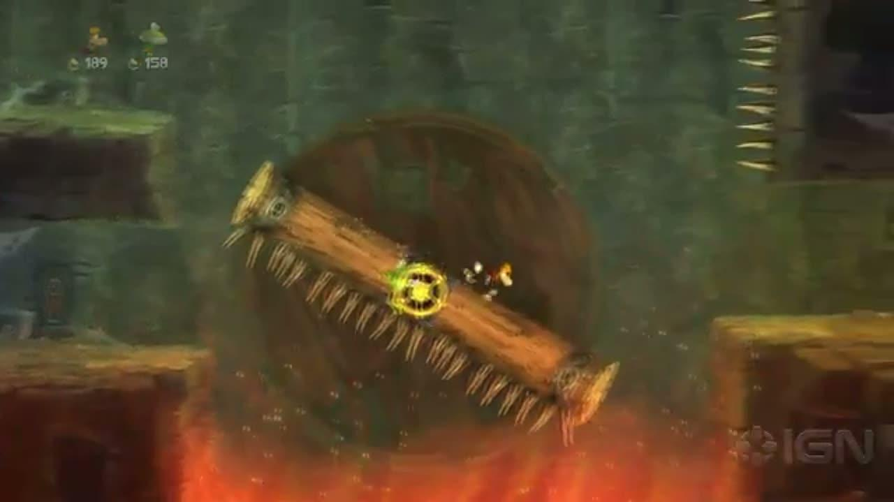 Rayman Legends - Dragon Slingshot Gameplay - E3 2012