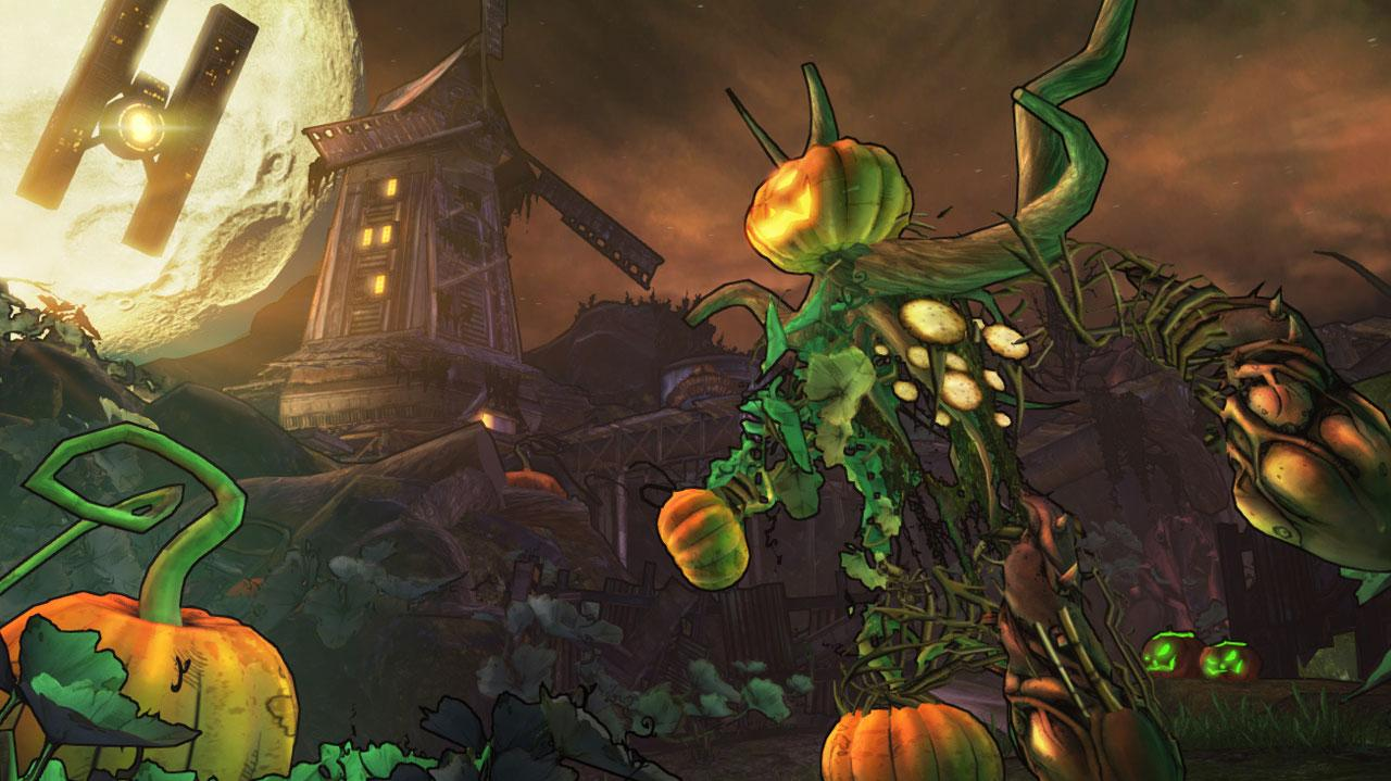 Borderlands 2 Pumpkin Kingpin Boss Battle