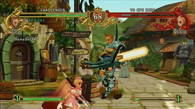 Battle Fantasia Xbox 360 Gameplay - Urs vs