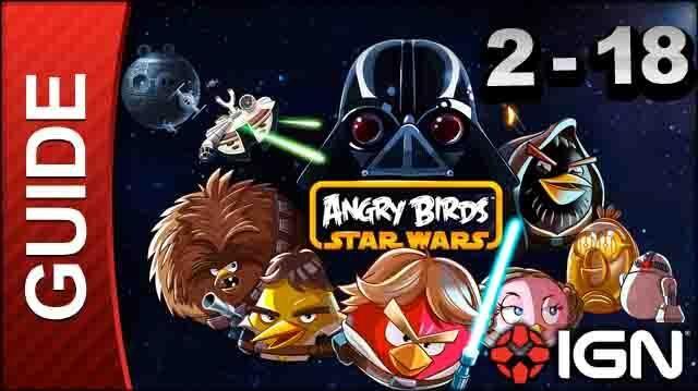 Angry Birds Star Wars Death Star Level 2-18 3 Star Walkthrough