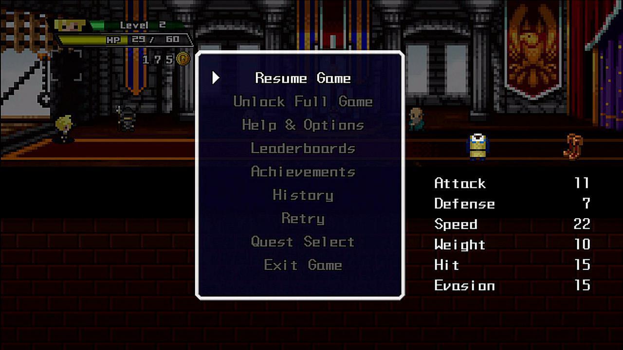 Half-Minute Hero Super Mega Neo Climax Edition Quest 1 Retro Graphics