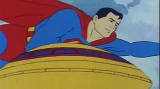 SUPER FRIENDS SUPERMAN CARRIES ALIENS