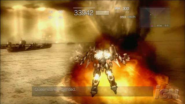 Armored Core 4 Xbox 360 Gameplay - Sink the Ship (HD)