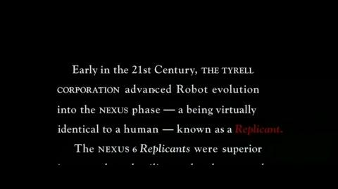 Blade Runner - Opening scroll