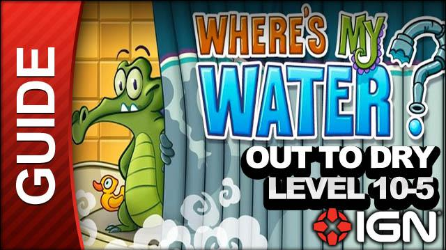 Where's My Water? - Out to Dry - Level 10-5 Bog it Down! - Walkthrough