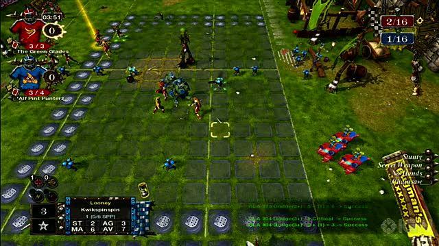 Blood Bowl Xbox 360 Gameplay - Goblins vs. Elves