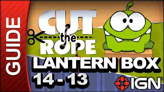 Cut the Rope - Lantern Box 3-Star Walkthrough - Level 14-13