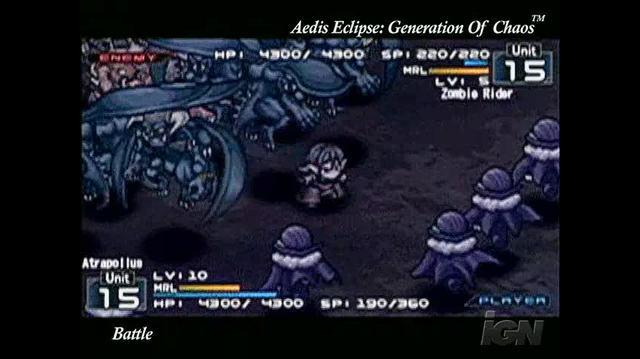 Aedis Eclipse ~Generation of Chaos~ Sony PSP Clip-Commercial - Look at those battles!