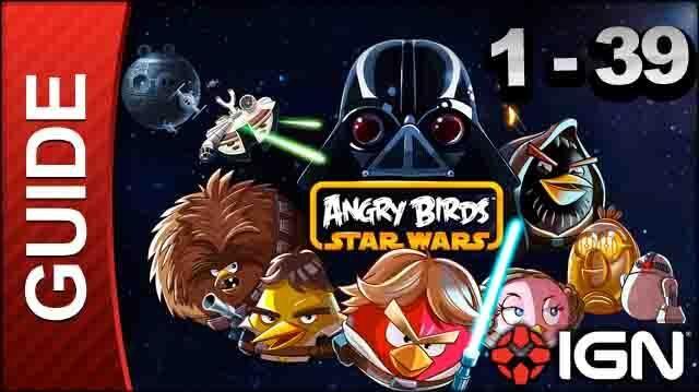Angry Birds Star Wars Tatooine Level 1-39 3 Star Walkthrough