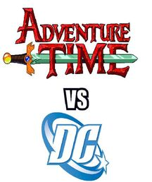 Adventure Time vs DC Logo