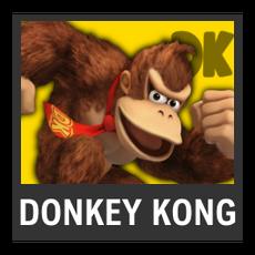 Super Smash Bros. Strife character box - Donkey Kong