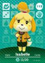Isabelle - AC amiibo card 2