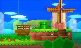 SSB4 Paper Mario stage