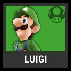 Super Smash Bros. Strife character box - Luigi