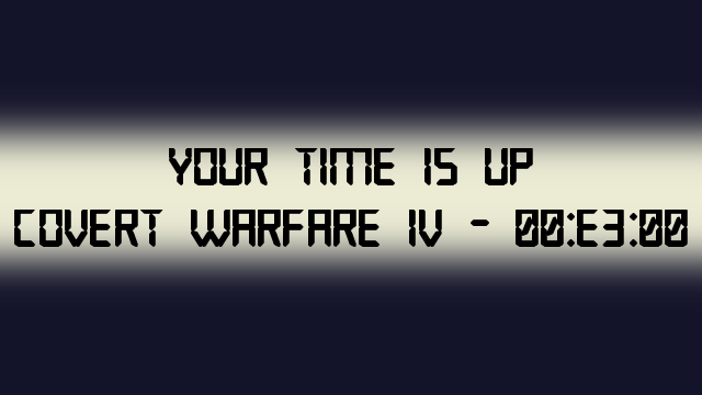 Covert Warfare 4 teaser