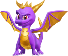 Spyro the dragon render by nibroc rock-d94dgvv