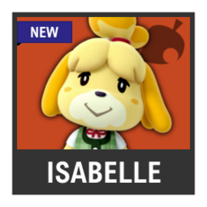 Super Smash Bros. Strife character box - Isabelle