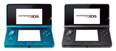 Nintendo 3DS Aqua Blue And Cosmos Black