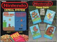 Nintendo Cereal System Front and Back Cover Power Cards