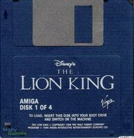 The Lion King cart Amiga USA