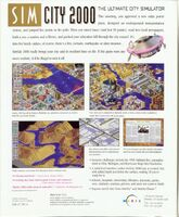 SimCity 2000 - portada back DOS USA