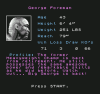 George Foreman's KO Boxing NES1