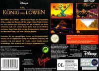 The Lion King portada SNES EUR-b