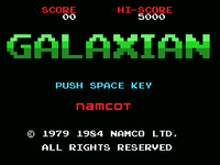 Galaxian MSX version TÍTULO