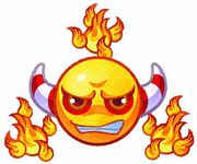 Kirby Mass Attack arte - Fire Bubble