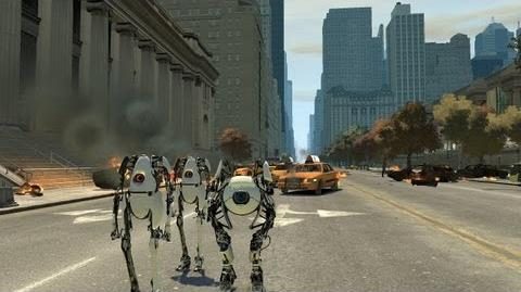 Grand Theft Auto IV - Portal 2 Co-Op Bots Atlas And P-Body (MOD) HD