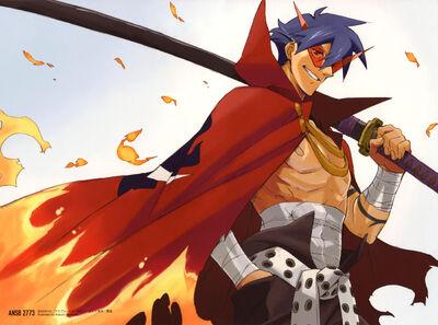 AnimeWapers com 92662 cape kamina male nishigori atsushi sword tengen toppa gurren lagann